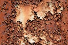 Muito Rusty Paint Fotografia de Stock Royalty Free