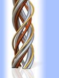 Muito tubo tangled em uma espiral Imagens de Stock Royalty Free
