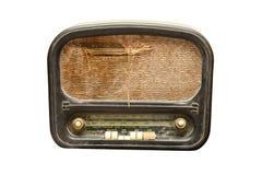 Muito velho e despedaçado o rádio Fotografia de Stock