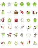 Muitos ícones do Internet do vetor ilustração royalty free