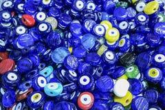 Muitos amuletos tradicionais do olho mau Fotografia de Stock Royalty Free