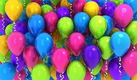 Muitos balões das cores, fundo foto de stock