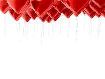 Muitos balões do vermelho Foto de Stock