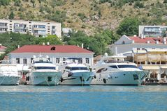 Muitos barcos Imagem de Stock Royalty Free