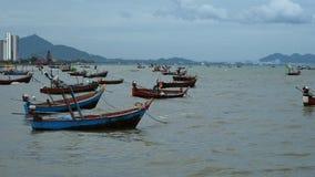 Muitos barcos de pesca pequenos Fotografia de Stock