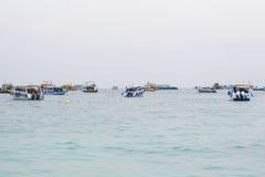 Muitos barcos no mar Foto de Stock Royalty Free