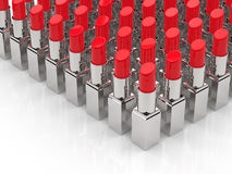 Muitos batons vermelhos Imagens de Stock Royalty Free