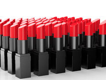 Muitos batons vermelhos Fotografia de Stock