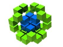 Muitos blocos Imagem de Stock