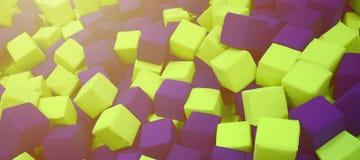 Muitos blocos coloridos do delicado em um kids& x27; ballpit em um campo de jogos Fotos de Stock Royalty Free