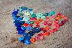 Muitos botões multi-coloridos Foto de Stock Royalty Free