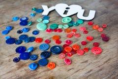 Muitos botões multi-coloridos Imagens de Stock Royalty Free