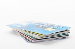 Muitos cartões de crédito Fotografia de Stock