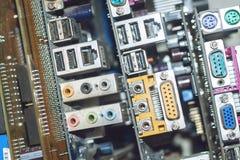 Muitos cartões-matrizes do computador do PC Dispositivos da eletrônica do processador do núcleo do mainboard da microplaqueta do  imagem de stock
