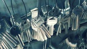 Muitos chave usado copiando chaves foto de stock royalty free