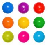 Muitos colorem esferas plásticas foto de stock royalty free