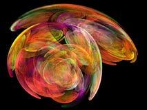 Muitos coloriram o fractal Ilustração do Vetor