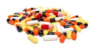 Muitos comprimidos Fotografia de Stock