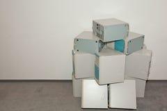 Muitos computadores velhos Fotografia de Stock