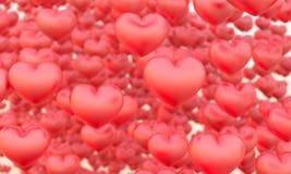 Muitos corações Fotografia de Stock