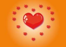 Muitos corações Imagem de Stock Royalty Free