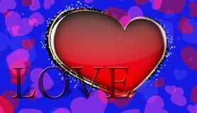 Muitos corações Fotografia de Stock Royalty Free