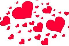 Muitos corações Fotos de Stock Royalty Free