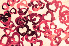 Muitos corações de brilho Foto de Stock