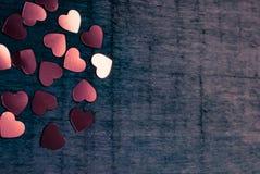 Muitos corações de brilho Imagem de Stock
