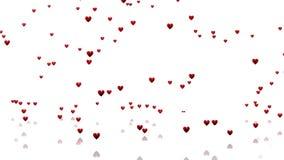Muitos corações vermelhos minúsculos ilustração stock