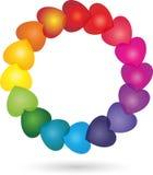 Muitos corações, coloridos, fundo dos corações Imagens de Stock Royalty Free