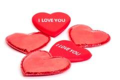Muitos corações vermelhos Fotografia de Stock Royalty Free