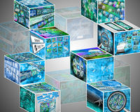 Muitos cubos Imagens de Stock