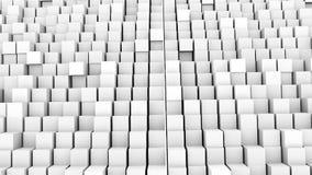 Muitos cubos abstratos, ilusão ótica, contexto gerado por computador moderno da rendição 3D Imagens de Stock