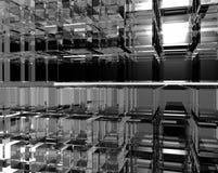 Muitos cubos do vidro Fotos de Stock