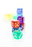 Muitos dados coloridos diferentes Imagem de Stock