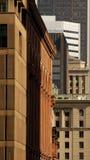 Muitos edifícios mas nenhum céu, Montreal, Canadá. imagens de stock