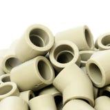 Muitos encaixes combinados para as tubulações plásticas Fotos de Stock
