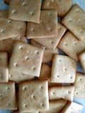 Muitos esquadram biscoitos brancos doces Foto de Stock