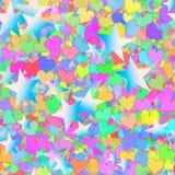 Muitos estrelas e corações pintados Fotografia de Stock
