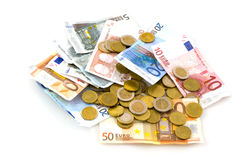 Muitos euro Fotos de Stock