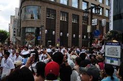 Muitos fotógrafo no festival de Hakata Gion Yamakasa Fotografia de Stock