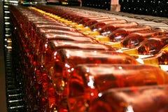 Muitos frascos de vinho na adega Imagens de Stock