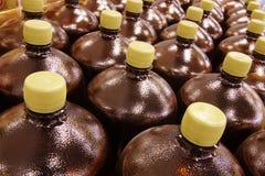 Muitos frascos do plástico Imagem de Stock Royalty Free