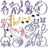 Muitos gatos Imagens de Stock Royalty Free