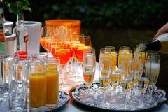 Muitos glases do champagner Imagem de Stock