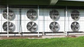 Muitos grandes condicionadores de ar video estoque