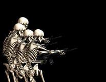 Muitos guerreiam os esqueletos 2 Foto de Stock Royalty Free