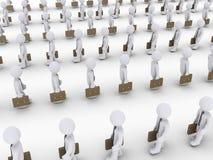 Muitos homens de negócios que andam nas linhas Imagens de Stock