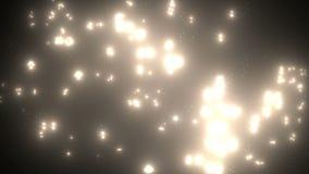 Muitos iluminam o efeito dos flashes video estoque